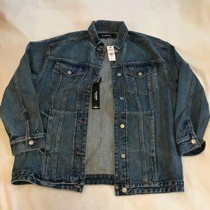 EXPRESS oversized boyfriend jean jacket
